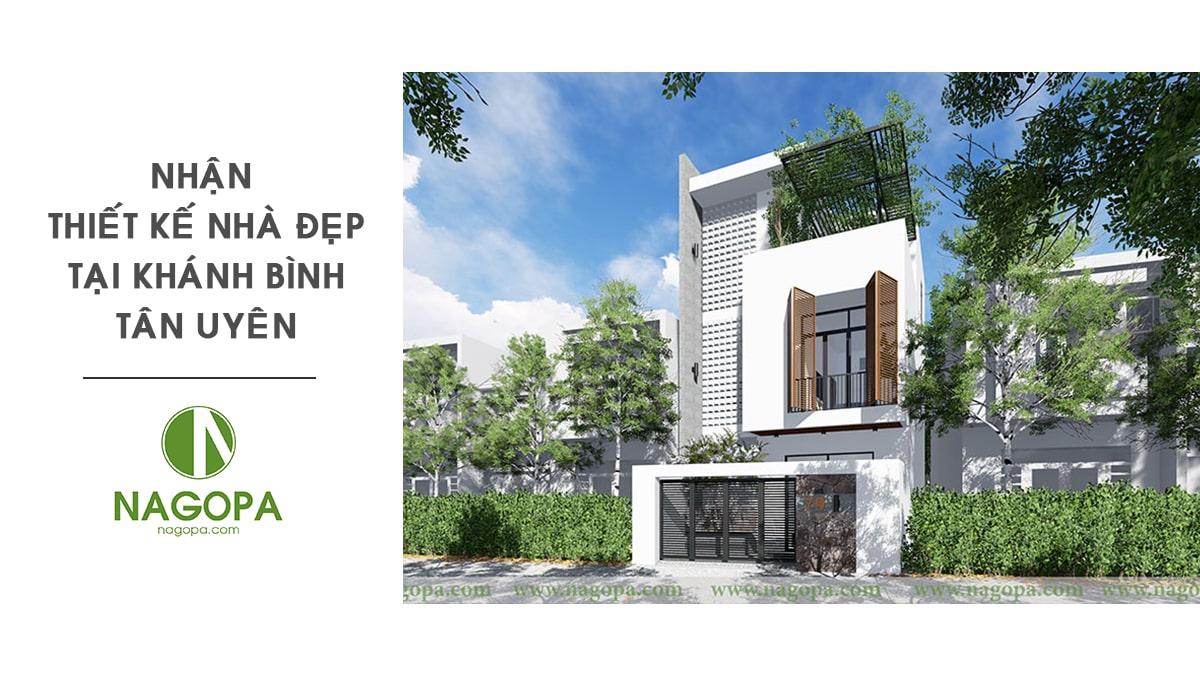 Nhận thiết kế nhà đẹp tại Phường Khánh Bình Tân Uyên