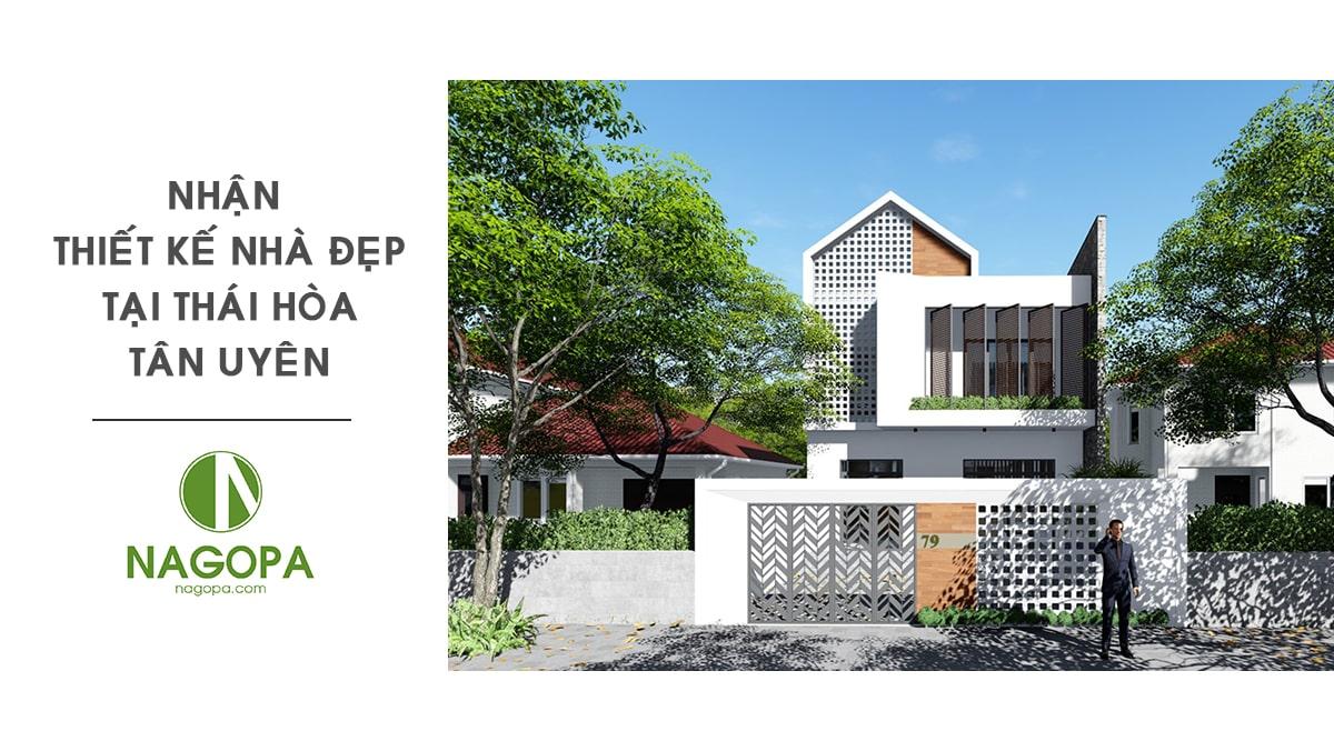 Nhận thiết kế nhà đẹp tại Phường Thái Hòa