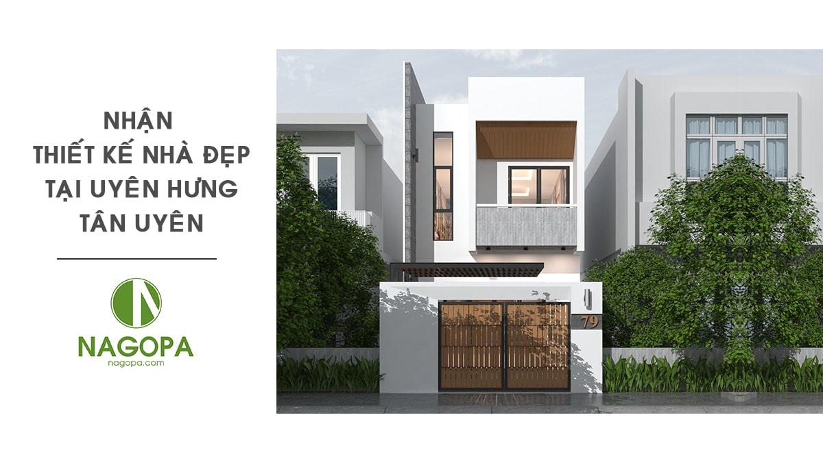 Nhận thiết kế nhà đẹp tại Phường Uyên Hưng Tân Uyên